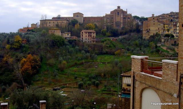 Vista do Centro Histórico de Siena, Itália