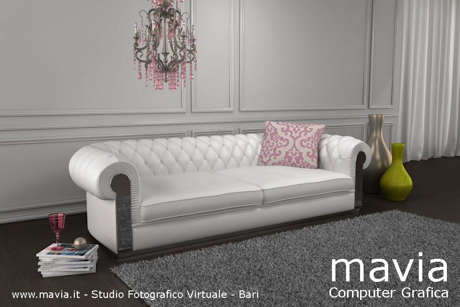 Arredamento di interni divani 3d realizzazione modelli for Salotti bianchi