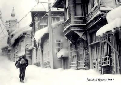 1954 kışı İstanbul-Beykoz