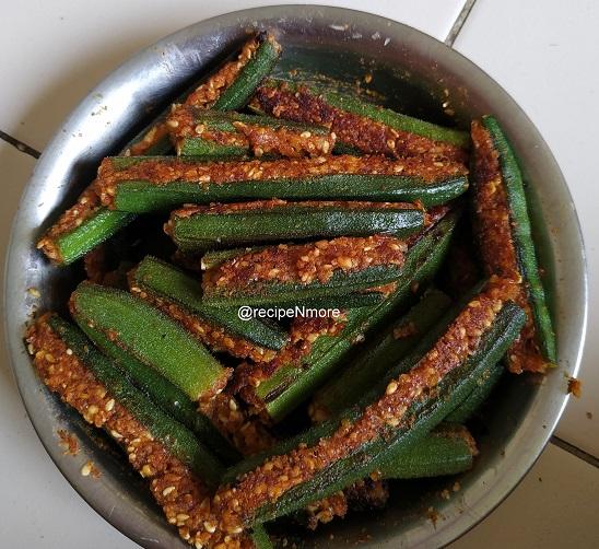 भरली भेंडी | stuffed ladies finger recipe in marathi