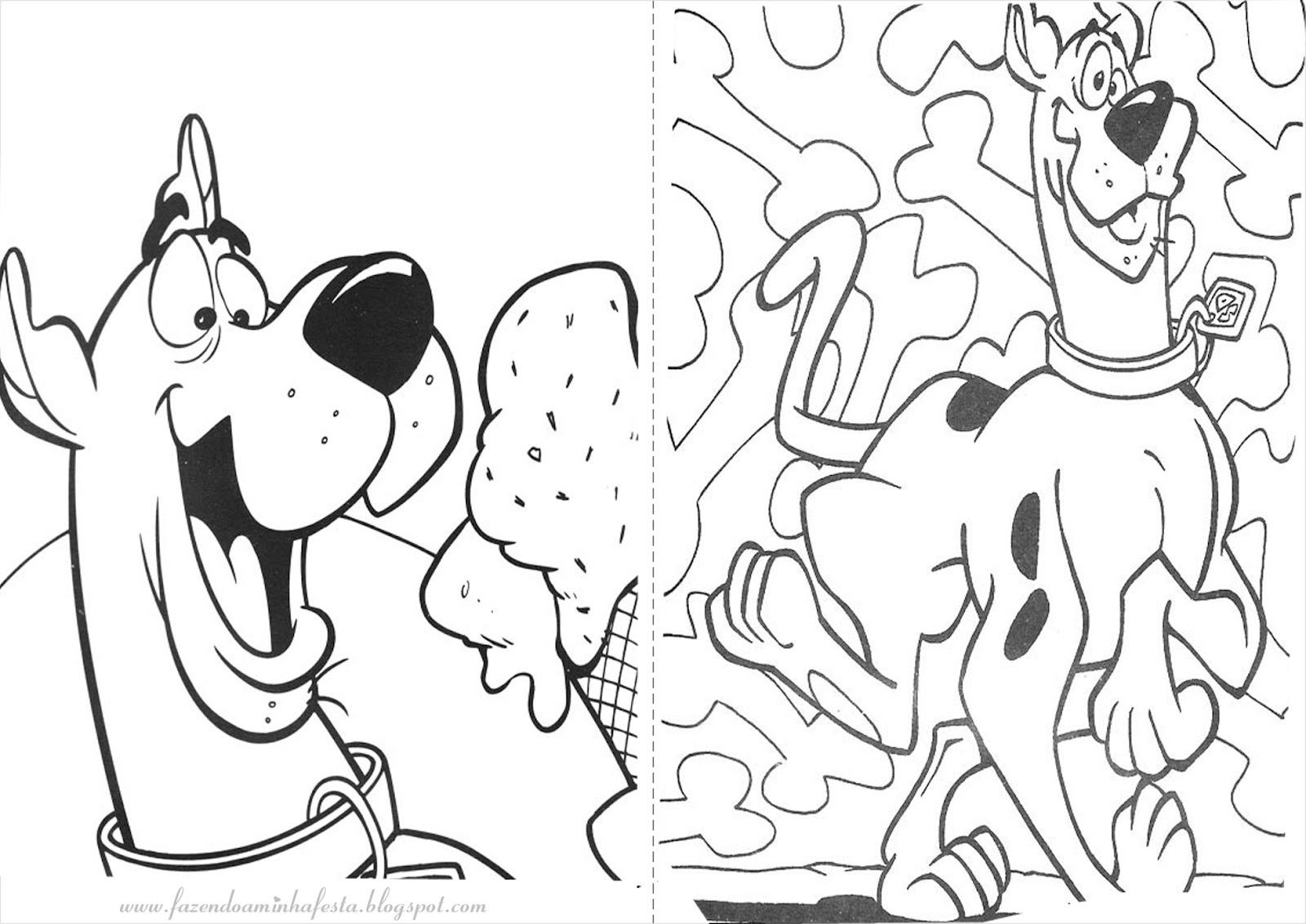 Desenhos Para Pintar Do Scooby Doo