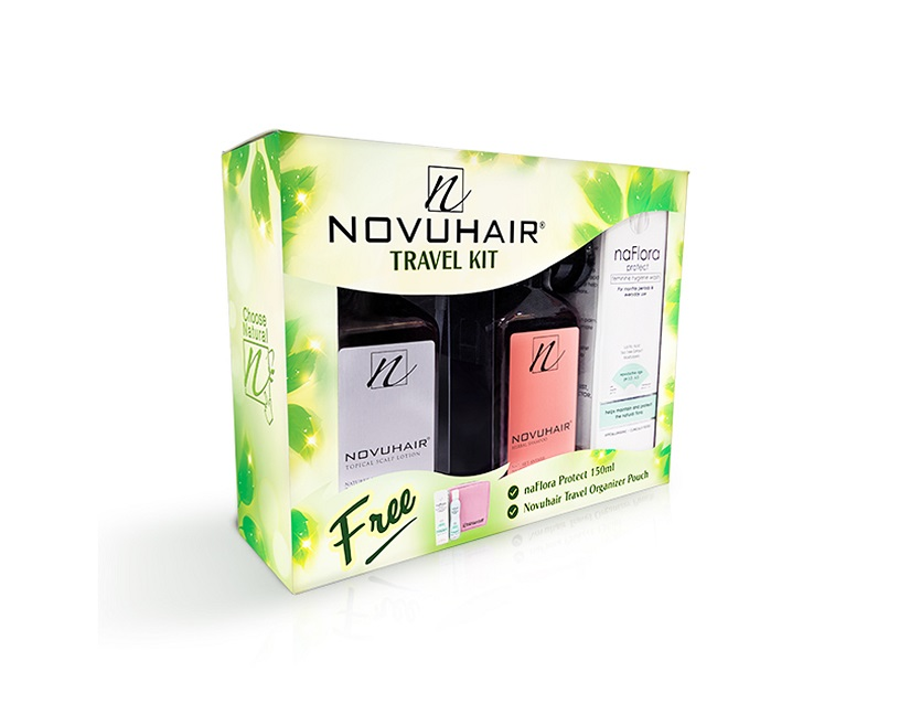 novuhair travel kit promo