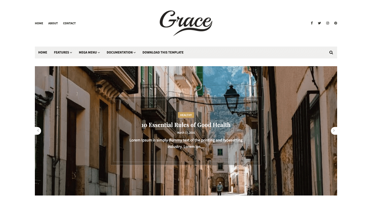 Grace - 🚀 Responsive Minimal Blogger Template