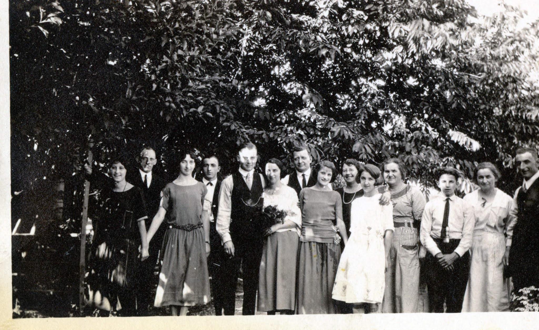 Italian Swiss immigrant wedding