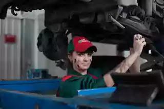 girl wearing cap doing her job