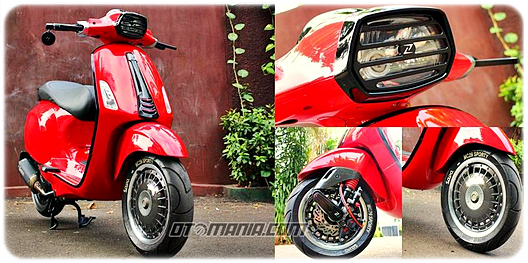 Modifikasi Vespa Racing Look Anti Mainstream Dengan Vespa