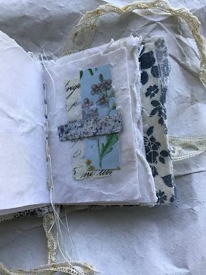 Mixed Media Mini Collage Fabric Book