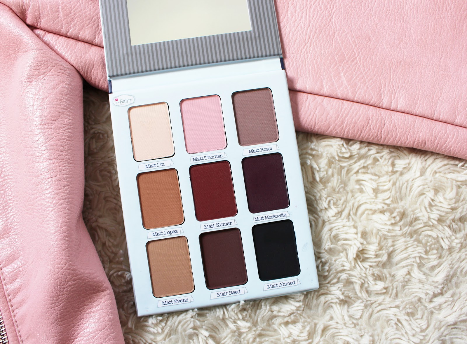 thebalm meet matt(e) trimony eye shadow palette review