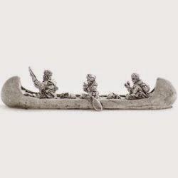 FI18 Birch bark canoe - Coereur de bois/Troupe de la marine/Canadian militia crew.