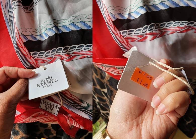 Hermes silk scarf in op-shop