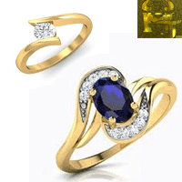 original gems stone ring