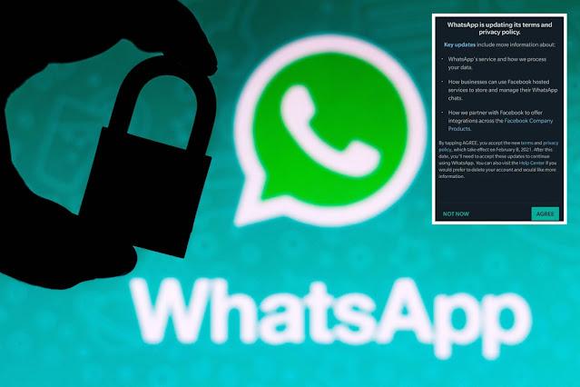 واتسآب يفرض على مستخدميه قبول سياسة الخصوصية الجديدة و إلا الحذف