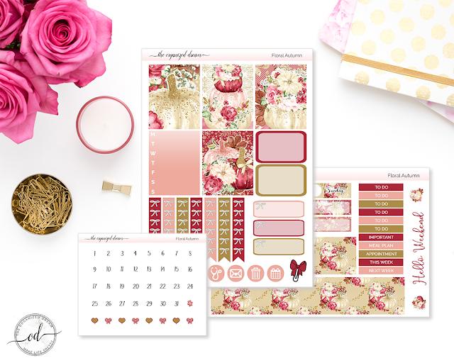 Fall planner mini planner sticker kits.  #plannergirl #planning #etsyshop
