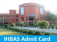IHBAS Admit Card