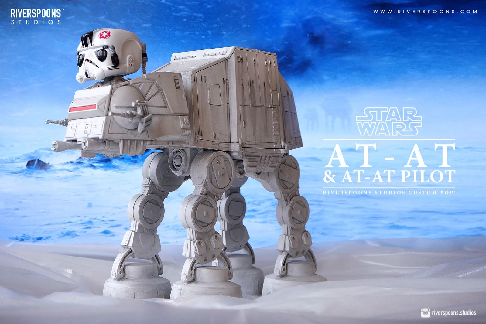Riverspoons Studios: Riverspoons Studios Star Wars AT-AT Pilot with AT-AT Custom Pop! Ride