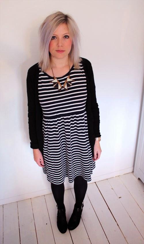 stripe smock dress
