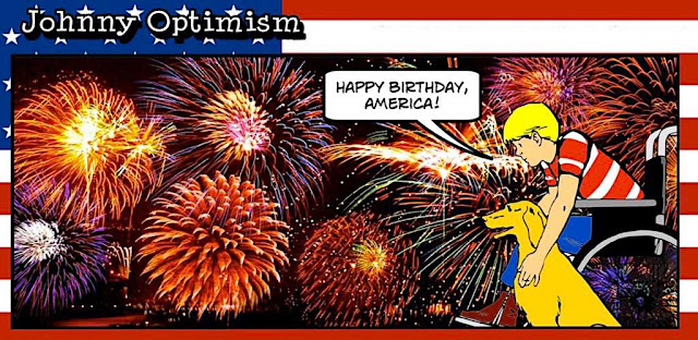 johnny optimism, medical, humor, sick, jokes, boy, wheelchair, doctors, hospital, stilton jarlsberg, book, free, kindle, volume two, 4th of July