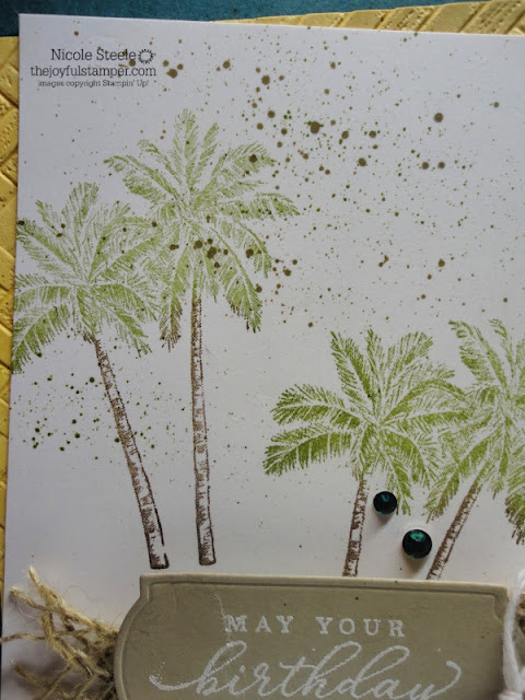 Timeless Tropical case of card in Stampin' Up! Mini Catalog by Nicole Steele The Joyful Stamper