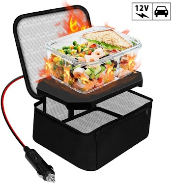 50% OFF Triangle Power Personal Portable Oven, Electric Slow Cooker for Food,Mini Oven for Meals Reheat,Food Warmer with Lunch Bag
