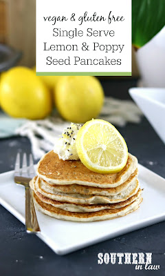 SIngle Serve Vegan Lemon and Poppyseed Pancakes Recipe