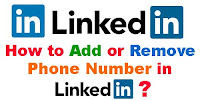 How to Add or Remove Phone Number in Linkdin?