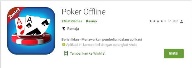 Game Poker Offline Ringan
