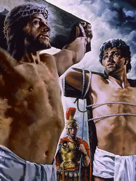 """Resultado de imagem para """"Em verdade te digo que hoje estarás comigo no Paraíso"""", diz o evangelho de Lucas."""
