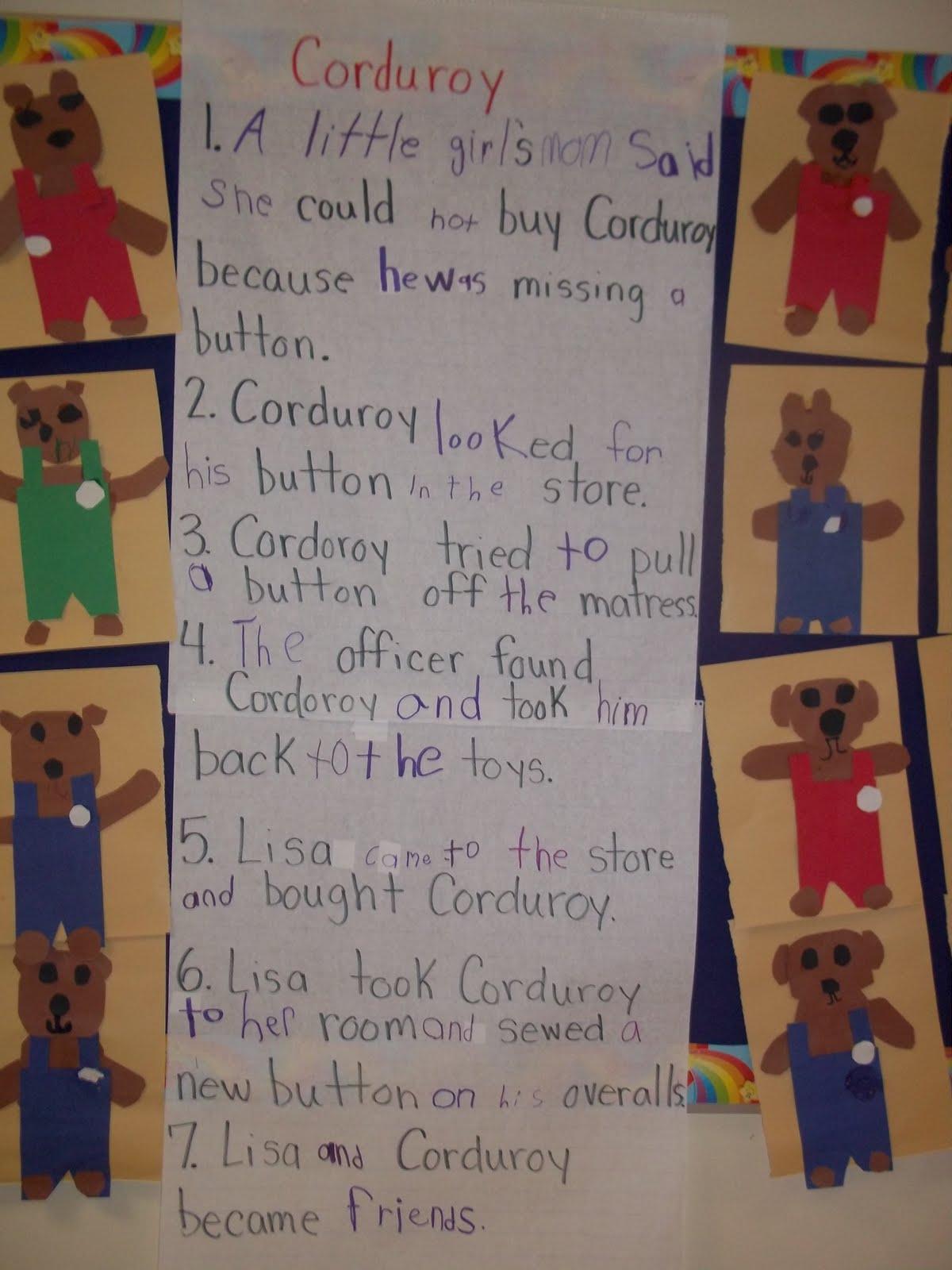 Mrs Wood S Kindergarten Class Corduroy