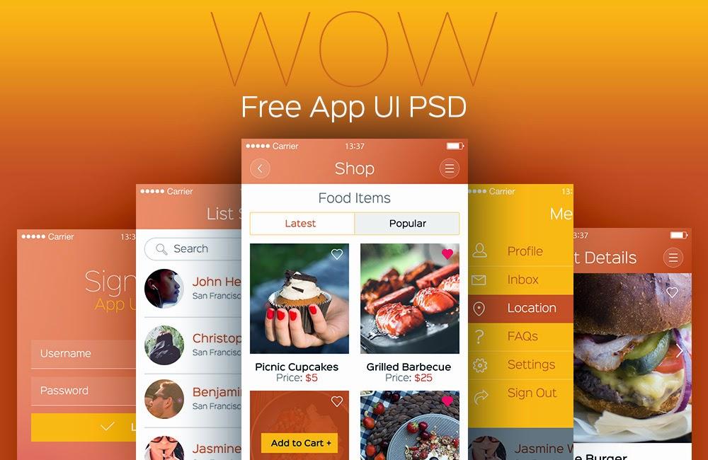 Modern Mobile App UI