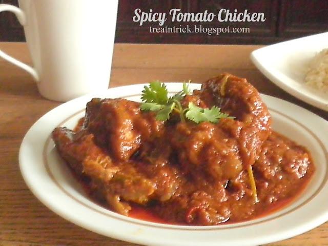Spicy Tomato Chicken Recipe @ treatntrick.blogspot.com
