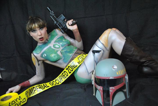 sexy female boba fett pose