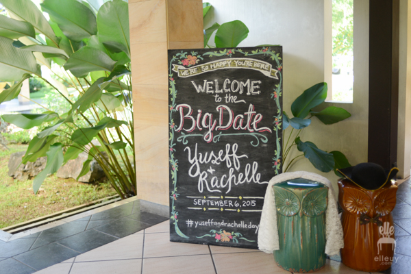 wedding chalkboard welcome sign
