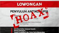 Hoax, KPK Tidak Merekrut Koruptor Sebagai Penyuluh Anti Korupsi