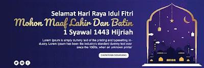 Download Kumpulan Banner Idul Fitri Photoshop