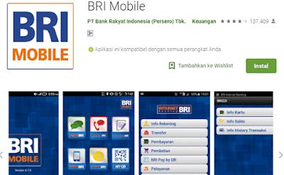 aplikasi bri mobile untuk cek mutasi rekening bri
