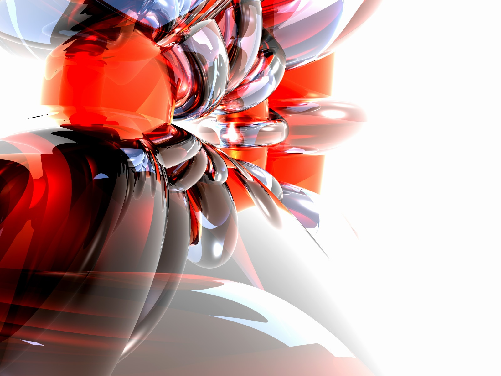 Glass 3d Hd Wallpapers 1080p: Real Wallpapers: 3D Abstract Glass Wallpaper