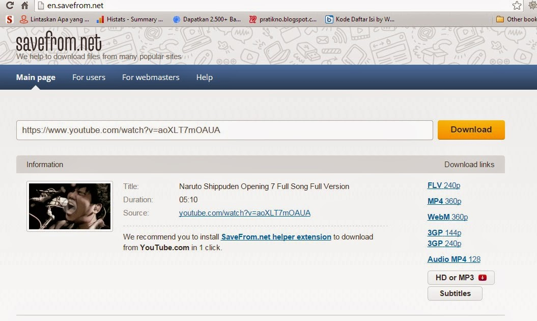 Cara Mudah Download Video Youtube Tanpa Software