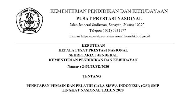 sk pemain dan pelatih gala siswa indonesia gsi smp tingkat nasional tahun 2020 pdf tomatalikuang.com