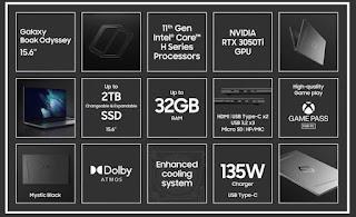 مواصفات و سعر حاسوب الألعاب Samsung Galaxy Book Odyssey