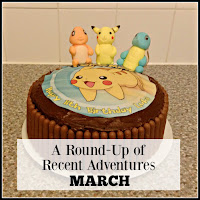 Pokemon cake with title overlaid