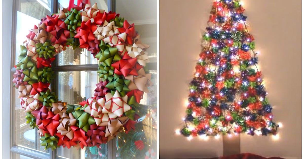 Coronas navide as y rboles decorados con mo os de regalo - Comprar arboles de navidad decorados ...