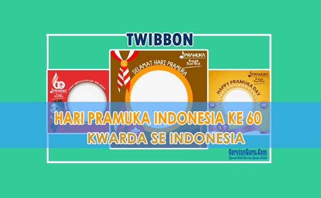Kumpulan Twibbon Hari Pramuka 2021 Kwarda Seluruh Indonesia
