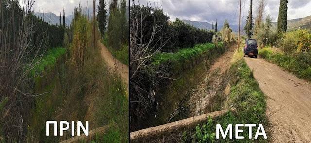 Καθαρισμός στο ρέμα Κυρίμι Κεφαλαρίου από την Π.Ε. Αργολίδας