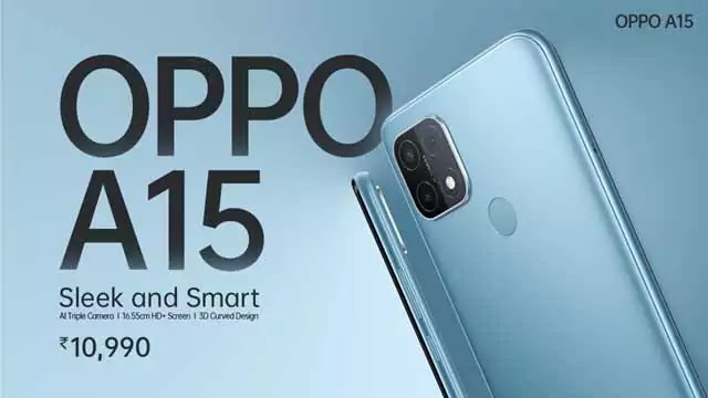 Oppo A15 has been launched in India with MediaTek Helio P35 Chipset: 4,230mAh Battery, Triple Rear Camera