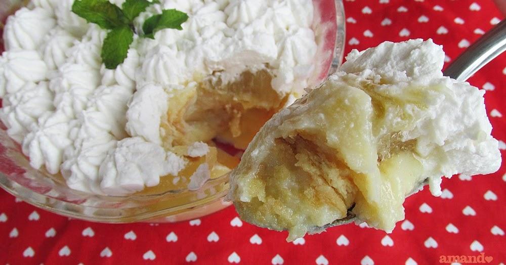 Pavê de abacaxi caramelizado
