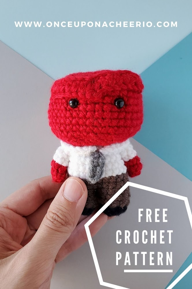Pixar's Inside Out - Anger Amigurumi Doll FREE Crochet Pattern