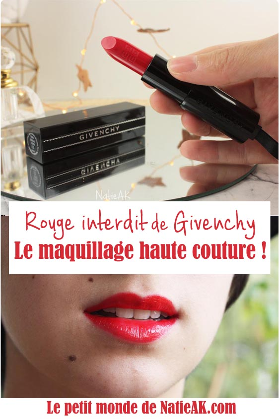 avis rouge interdit Givenchy