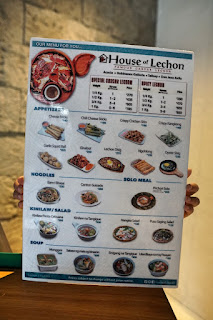 House of Lechon Menu front