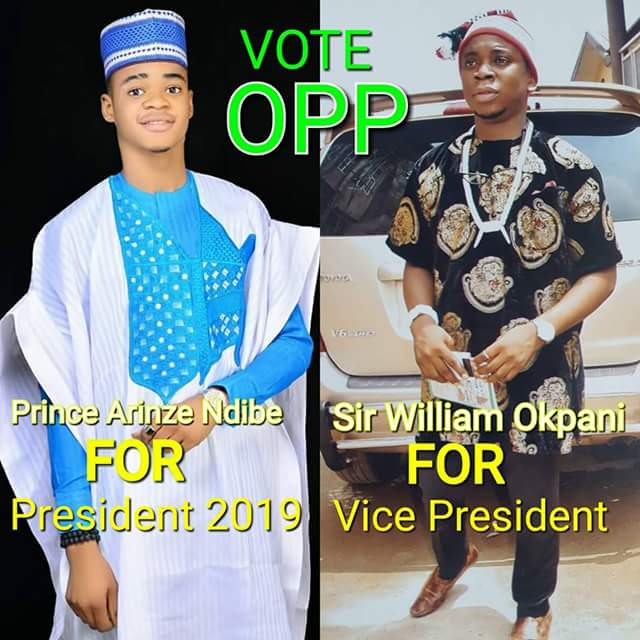 Lol... Handsome young Nigerian man declares for 2019 presidency