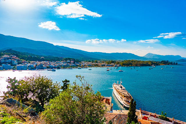 View from Clock Tower in Poros Greece